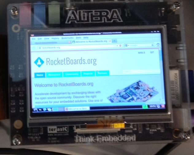 LCD and Touch Screen on Altera SOC board | Projects | RocketBoards org